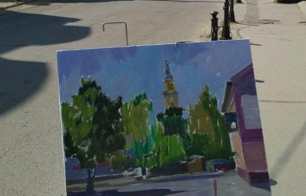 В Берегові триває художній пленер «Весняний Берегсас»