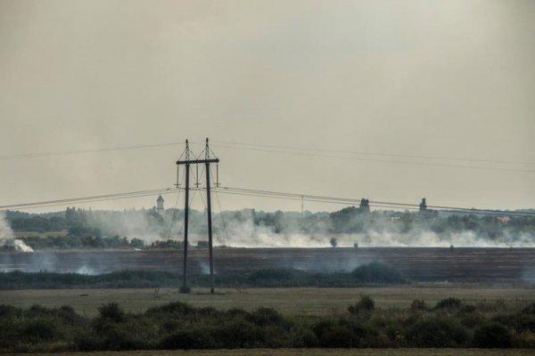 На Берегівщині пожежа: горять поля (ФОТО, ВІДЕО)